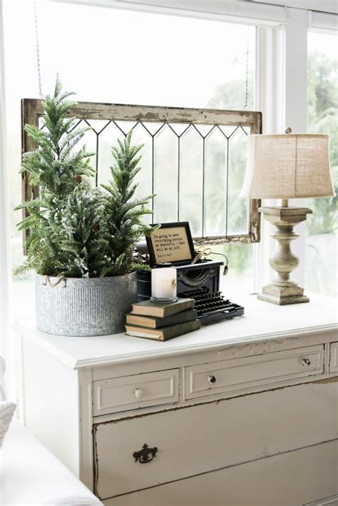adorning with a classic farmhouse inspiration decorations tree a new old dresser in the sunroom liz marie blog