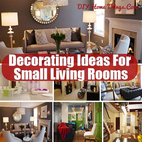 Diy Home Decor For Small Rooms Decorating Ideas For Small Living Rooms Diy Home Things