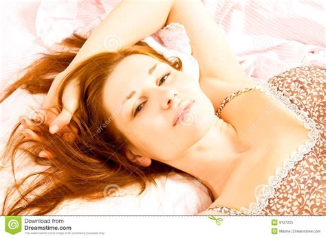 girls in bed beautiful girl in bed royalty free stock photo image