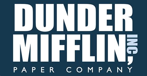 dunder mifflin top 5 fictional workplaces and their logos rushordertees
