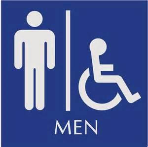 Ada sign unisex restroom black