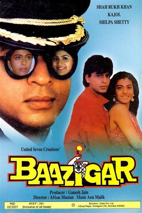 baazigar song baazigar 1993 shahrukh khan hindi movie posters