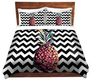 Chevron Duvet Duvet Cover Twill By Organic Saturation Party Pineapple
