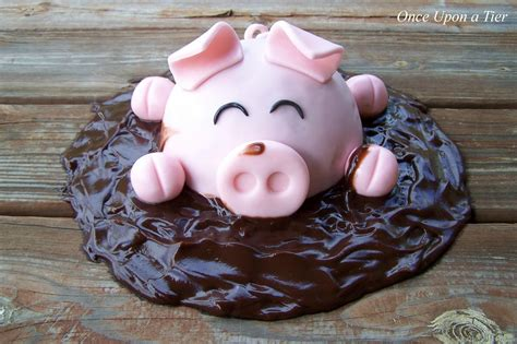 Pig Anniversary Cakeq once upon a tier pig cake