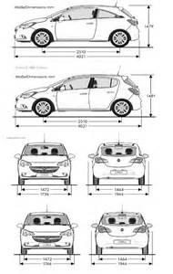 Opel Corsa Dimensions Opel Corsa 5 2014 Fiche Technique Dimensions