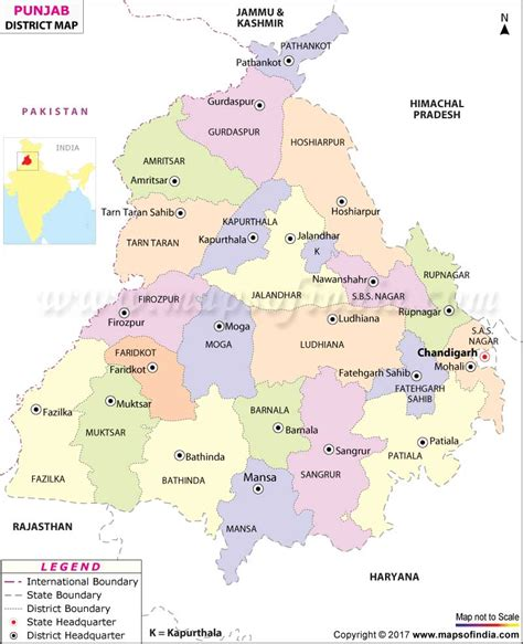 map of punjab punjab district map