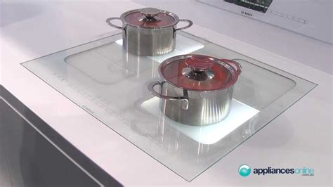induction cooktop white glass demonstration of bosch s easy to flex induction
