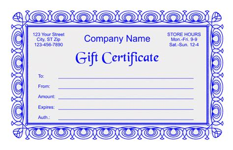 template for gift certificate the size of gift cards gift certificate template 2