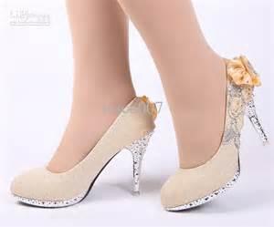 Wedding Shoes Gold Color Gold Colored Heels Fs Heel
