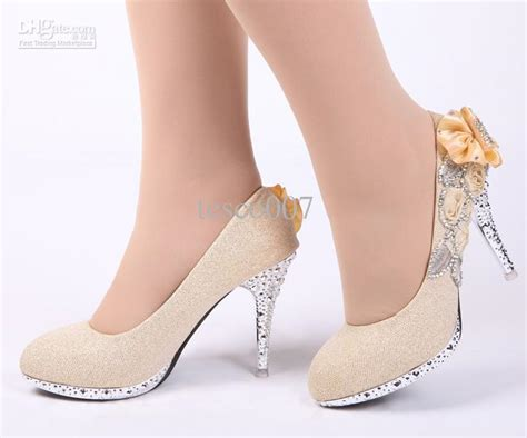 gold colored high heels s fashion high heels gold colored flowers
