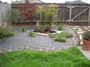 Simple Backyard Landscaping Ideas Small Spaces Simple And Low Maintenance Backyard Landscaping House Design With Small Ponds And