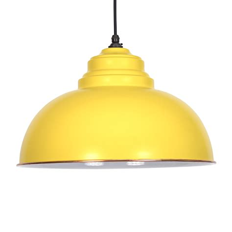 Yellow Pendant Light Canary Yellow Harborne Pendant Light Period Home Style
