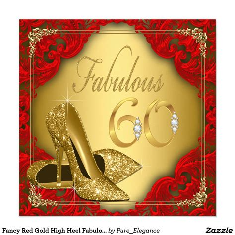 fancy birthday card templates fancy gold high heel fabulous 60th birthday invitation