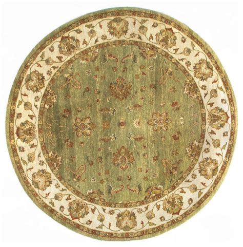 6x6 area rug rugsville ziegler light green beige wool rug 10037 6x6 traditional area rugs by rugsville