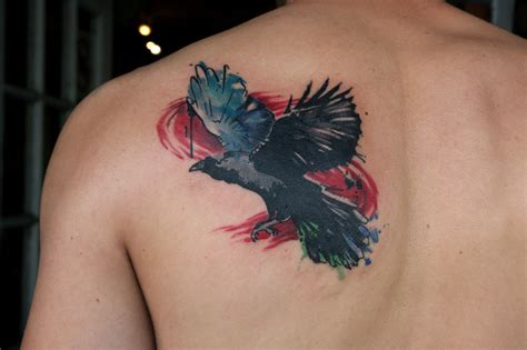 watercolor tattoo raven watercolor i at boogaloo in