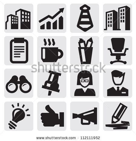 Office And Business Vector Icons Set On Gray Royalty Free Stock Images Image 33973149 Business Symbols Stock Images Royalty Free Images Vectors