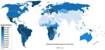 christian map list of religious populations