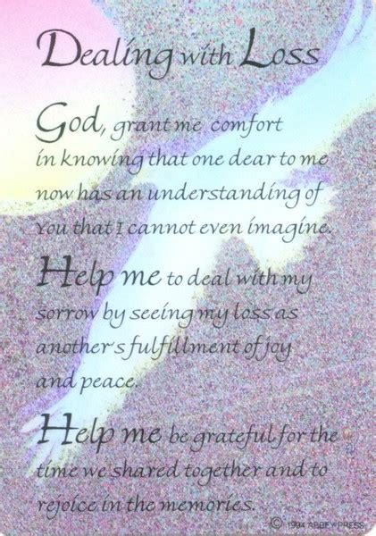prayer for comfort after death dealing with loss inspiration card perfect gift giving