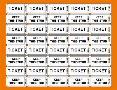 Printable Raffle Tickets With Numbers Free | 3 printable raffle ticket template teknoswitch