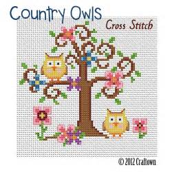 free cross stitch pattern country owls page 2