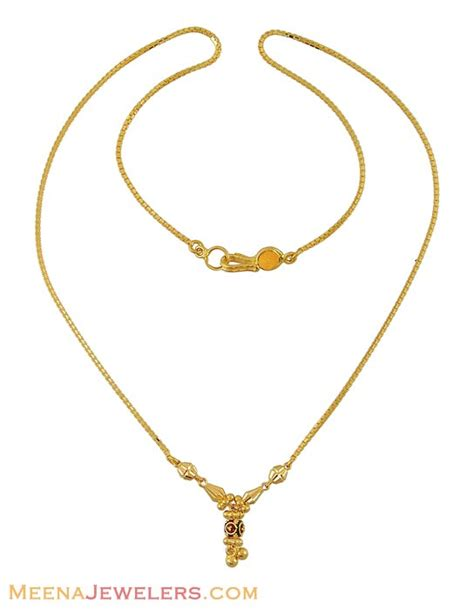 chain pattern in gold 22k meenakari chain chfc7846 22k gold chain dokia