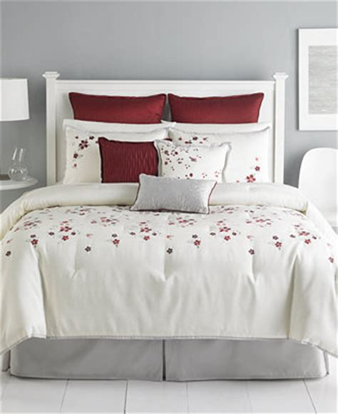 cranberry comforter set martha stewart collection cranberry blossom 9 piece