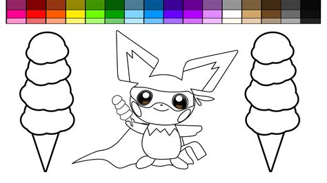 ice pokemon coloring pages learn colors for kids and color pokemon pichu super hero