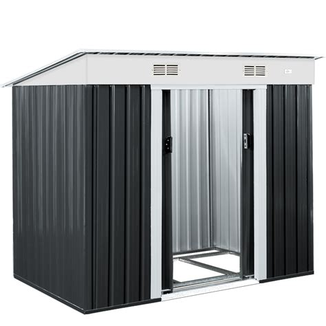 Metal Tool Shed garden shed metal tool shed garden shed garden house grey
