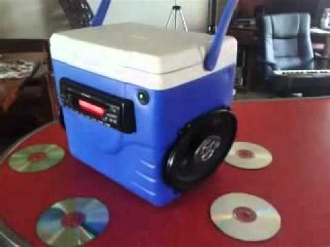 porta cd auto my portable car stereo cooler boombox
