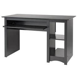 Small Black Desk Prepac Sonoma Small Wood Laminate Computer Desk In Black For Sale