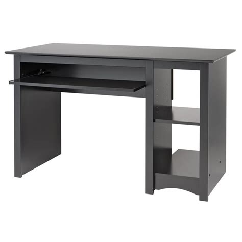 small black desk prepac sonoma small wood laminate black computer desk