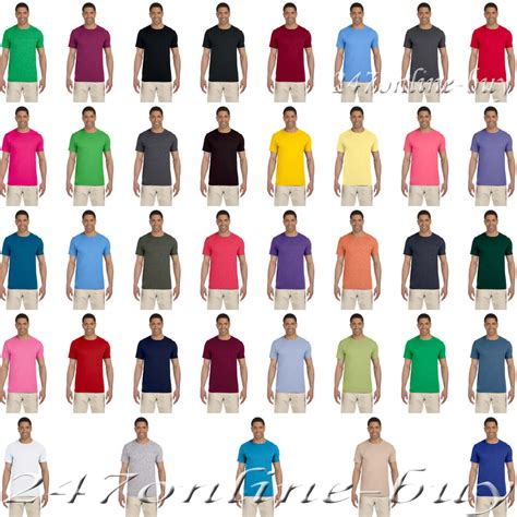 gildan softstyle colors new gildan softstyle semi fitted t shirt cotton multi