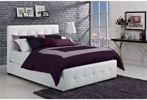 size bed white tufted faux leather upholstered