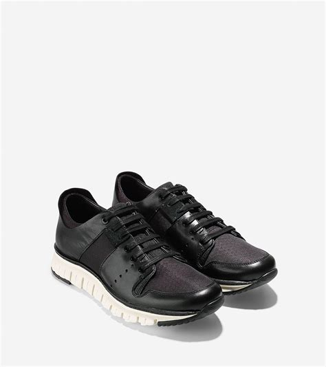 sport oxford shoe cole haan zer 248 grand sport oxford in black for lyst