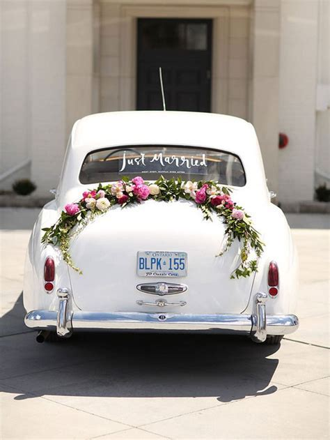 25  beste ideeën over Just Married Car op Pinterest