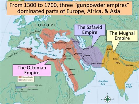 where were the ottomans located gunpowder empires