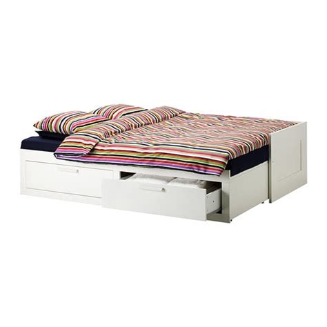 lit tiroire ikea brimnes day bed frame with 2 drawers white 80x200 cm ikea