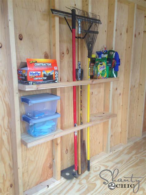 Organizing A Storage Shed by Shed Organization Idea Shanty 2 Chic