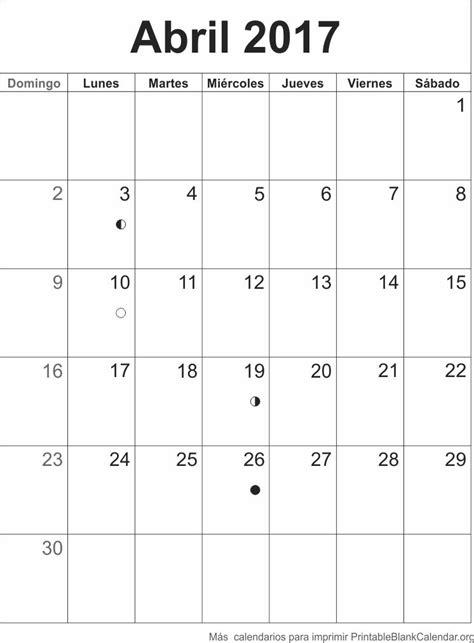 calendario abril 2017 para imprimir abr 2017 calendario calendarios para imprimir