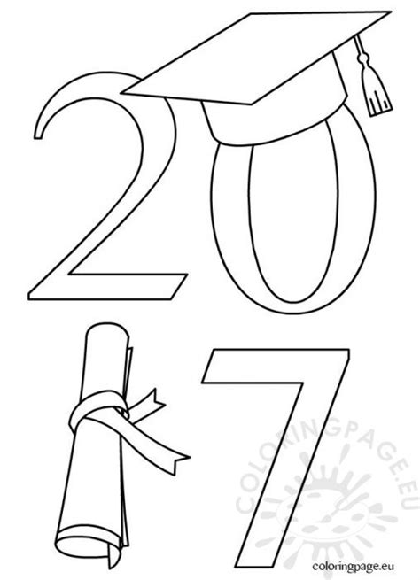 School Coloring Page Graduation Cap And Gown Coloring Pages