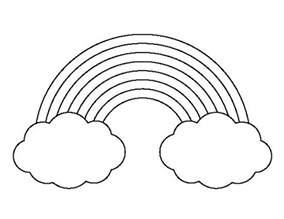 rainbow template printable rainbow with clouds pattern use the printable outline for