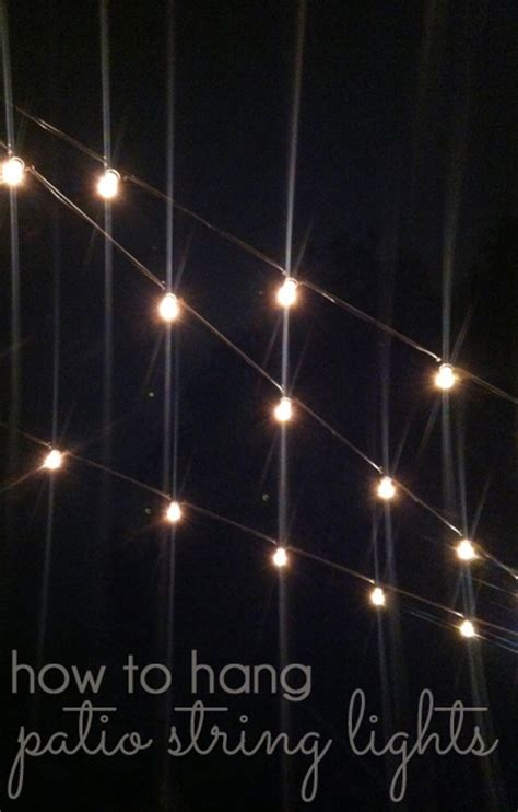 hanging patio lights string outdoor style how to hang commercial grade string lights