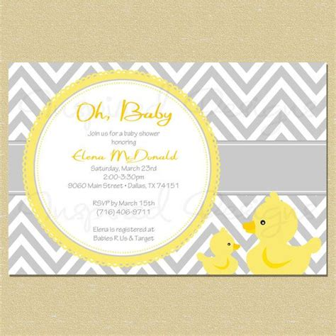 baby shower rubber sts rubber duck baby shower invitation baby shower