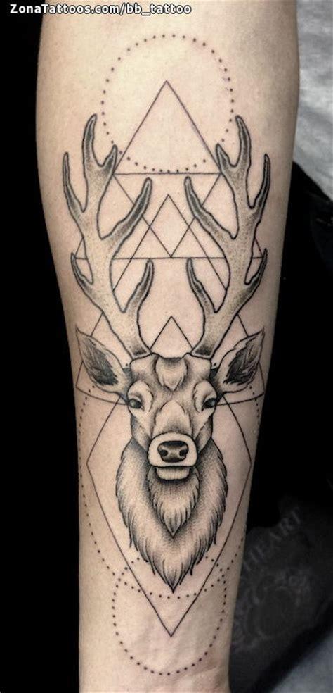 imagenes de tatuajes de venados tatuaje de ciervos geom 233 tricos puntillismo