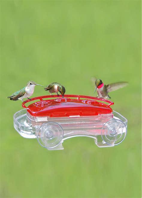 window hummingbird feeder with suction cups gardeners com