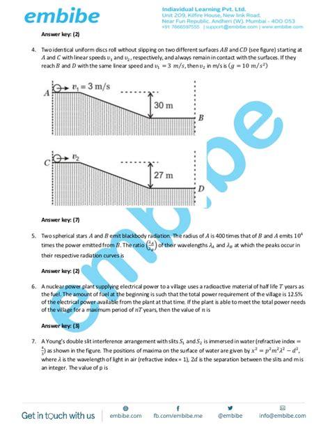 paper pattern jee advanced 2015 jee advanced 2015 paper 1 code 1 final