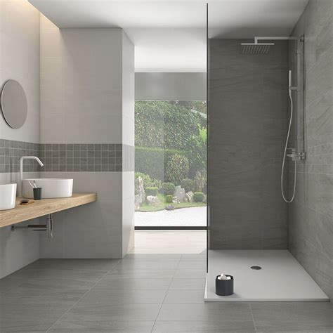 Light Grey Bathroom Floor Tiles Jupiter Marengo Tiles 30 X 61cm Stoke Tiles