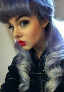 with colorful hair purple hair alternative pastel hair curly hair colored