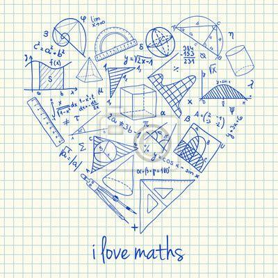 imagenes de teselas matematicas cuadro dibujos matem 225 ticas en forma de coraz 243 n posters y