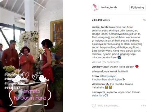 Xuang Xi Besar Sangjit Tea Pai akhirnya dion wiyoko resmi lamar sang kekasih kabar berita artikel gossip wowkeren